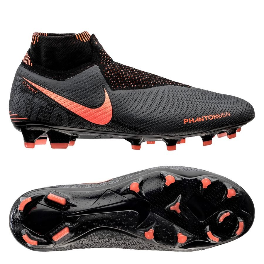 Nike Phantom Vision Elite DF FG Fire - Grå/Orange/Sort