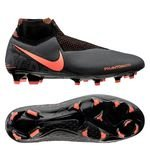 Nike Phantom Vision Elite DF FG Fire - Gris/Orange/Noir