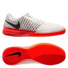 Nike Lunargato II IC - Platinum/Svart/Röd