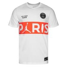 Nike T-Shirt Wordmark Jordan x PSG - Vit/Röd LIMITED EDITION