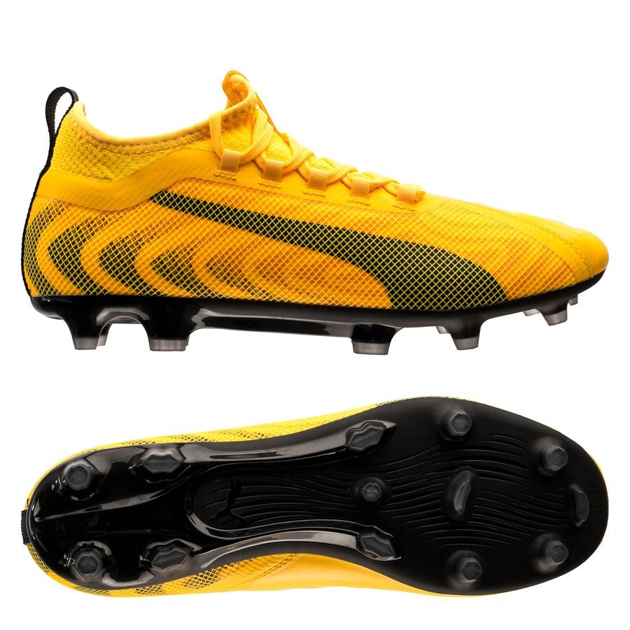 PUMA One 20.2 FG/AG Spark - Ultra Yellow/PUMA Black/Orange Alert