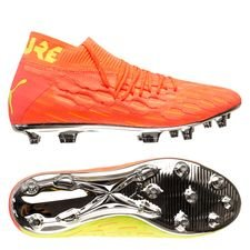 PUMA Future 5.1 Netfit FG/AG Rise - Orange/Gul