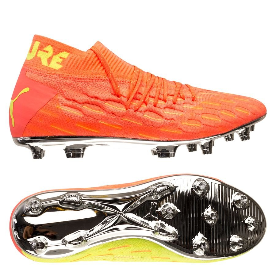PUMA Future 5.1 Netfit FG/AG Rise - Orange/Gul thumbnail
