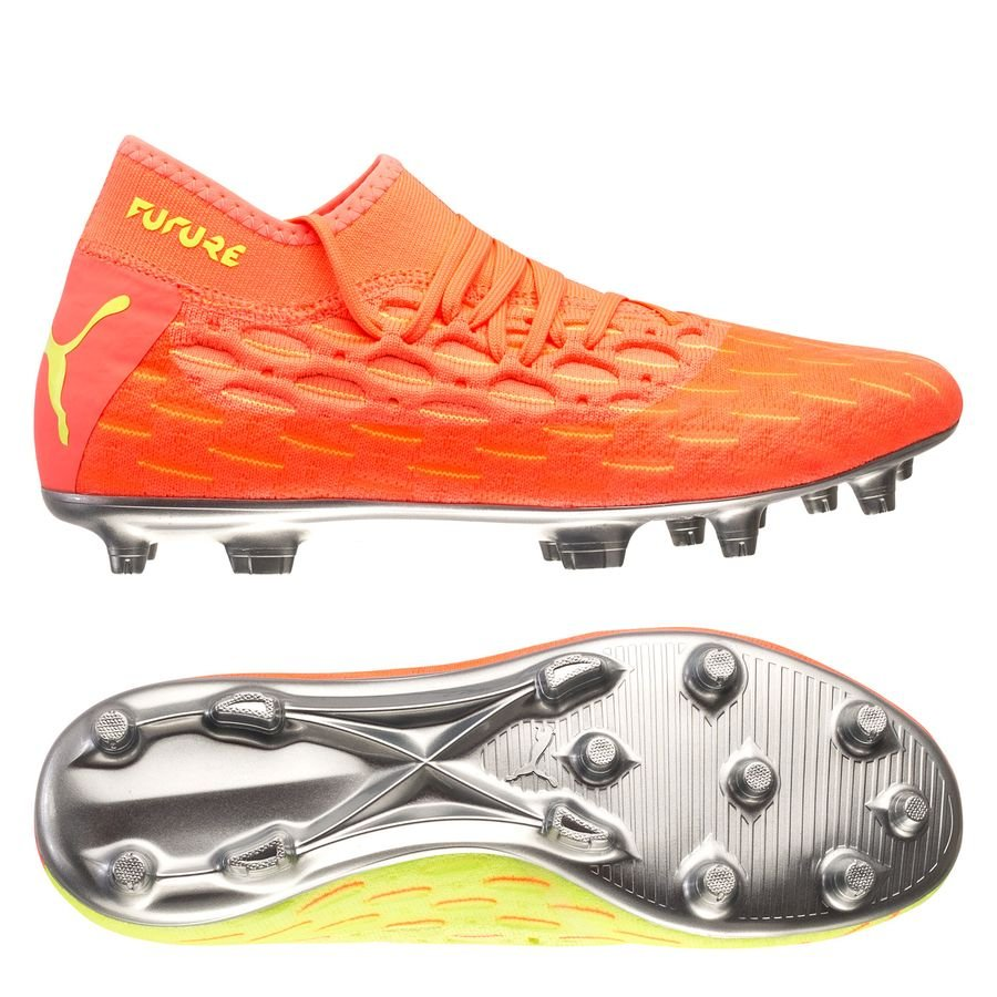 PUMA Future 5.2 Netfit FG/AG Rise - Energy Peach/Fizzy Yellow