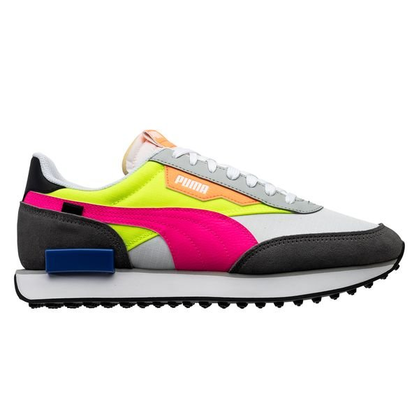 PUMA Future Rider Play On - PUMA White/Castlerock/Yellow Alert