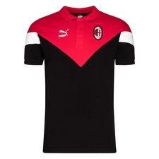 AC Mailand Polo Iconic - Schwarz/Rot/Weiß
