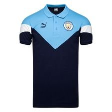 Manchester City Piké Iconic - Navy/Blå