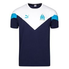 Marseille T-Shirt Iconic - Navy/Vit