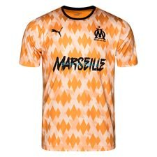 Marseille Tränings T-Shirt Showdown - Orange/Vit