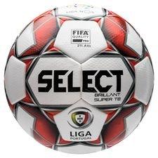 Select Fotboll Brillant Super TB Primeira Liga - Vit/Röd/Svart