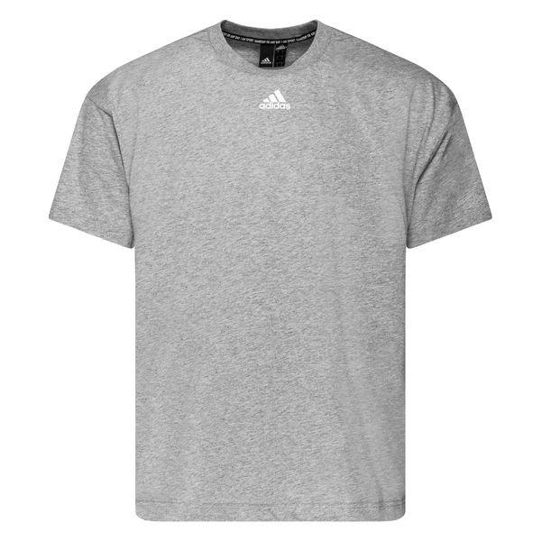 adidas T shirt Must Haves 3 Stripes GrijsWit