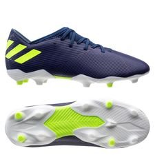 adidas Nemeziz Messi 19.3 FG/AG - Blau/Signal Green/Glory Purple Kinder