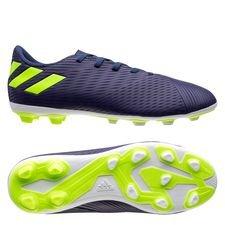 adidas Nemeziz Messi 19.4 FG/AG - Blau/Signal Green/Glory Purple Kinder