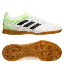 adidas Copa 20.3 Sala IN Uniforia - Weiß/Schwarz/Signal Green Kinder