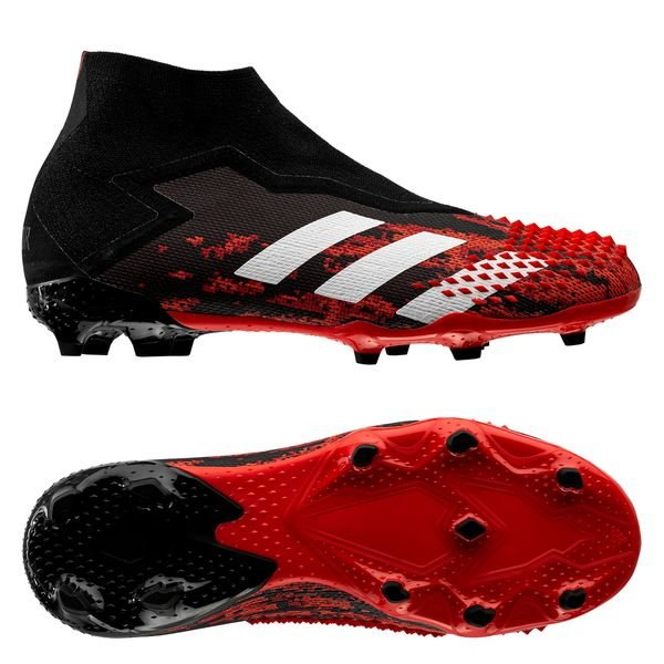 adidas Predator 20+ FG/AG Mutator - Core Black/Footwear White/Action Red  Kids
