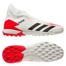 adidas Predator 20.3 Laceless TF Uniforia - Wit/Zwart/Rood