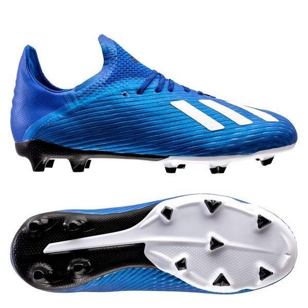 Billige Fotballsko Barn   Adidas Barn X 19+ FG Sølv Sort