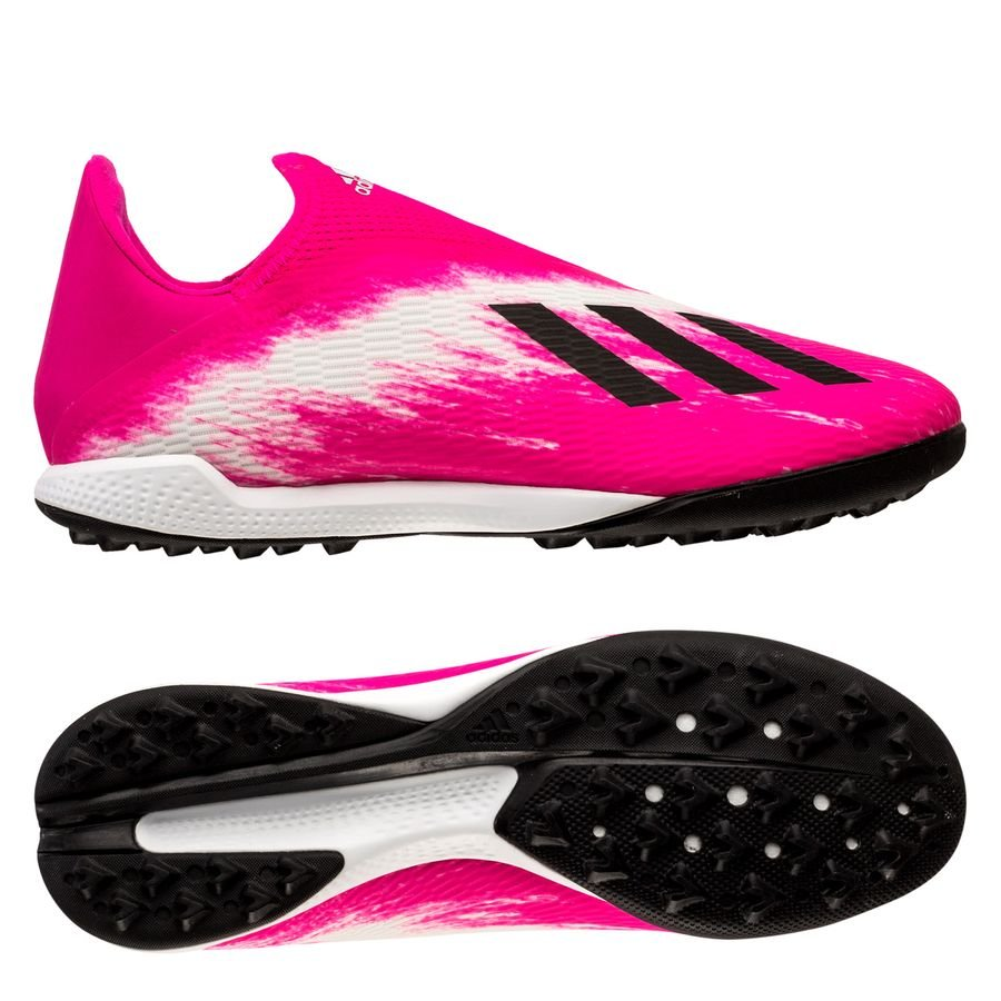 adidas X 19.3 Laceless TF Uniforia - Footwear White/Core Black/Shock Pink