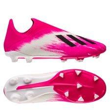 adidas X 19.3 FG/AG Laceless - Hvid/Sort/Pink