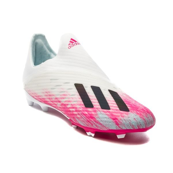 adidas X 19+ FG/AG Uniforia - Footwear White/Core Black/Shock Pink Kids