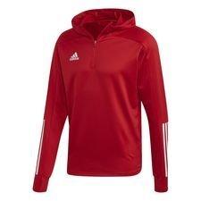adidas Trainingsjacke Condivo 20 Hood - Team Power Red/Weiß Kinder