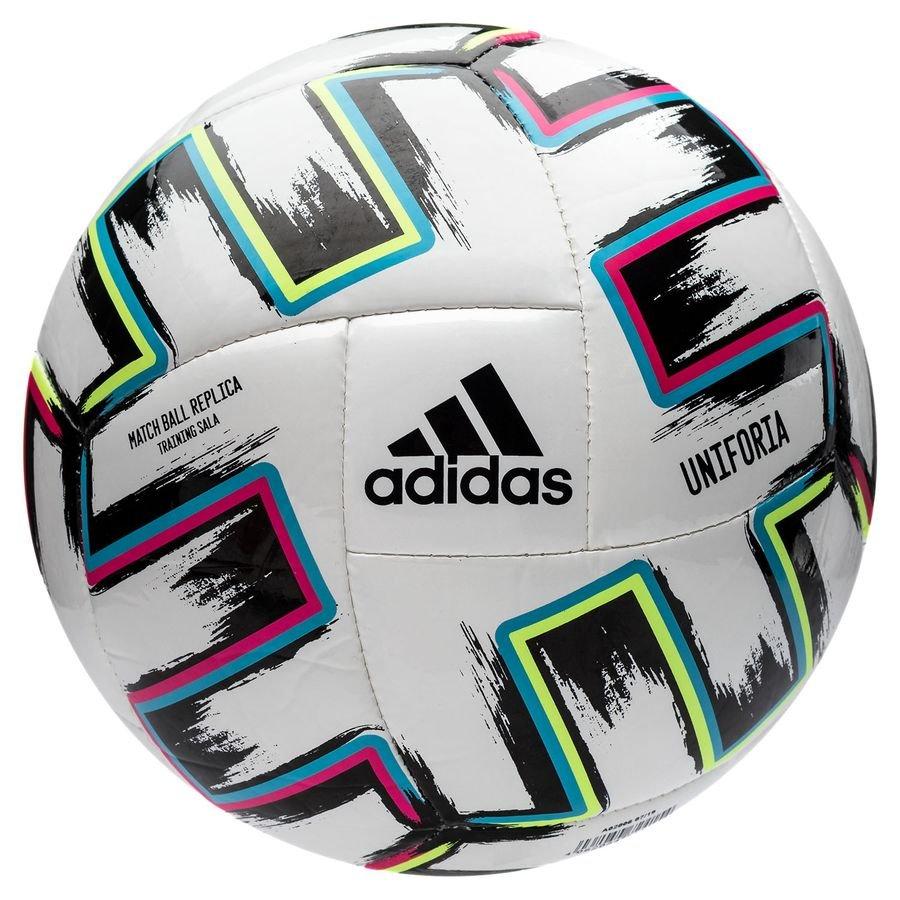 adidas Ballon Uniforia Training Sala EURO 2020 BlancNoirVertTurquoise