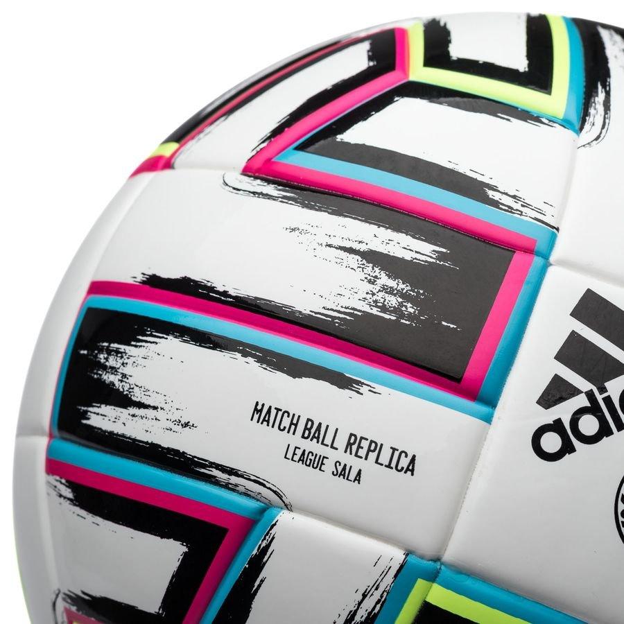 adidas Ballon Uniforia League Sala EURO 2020 BlancNoirVertTurquoise
