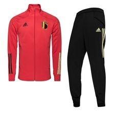 Belgien Trainingsanzug - Glory Red/Schwarz Kinder