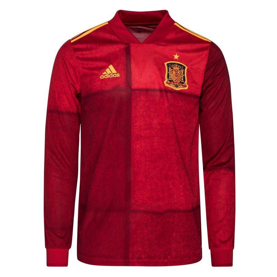 adidas Spain Home Shirt EURO 2020 Long Sleeves
