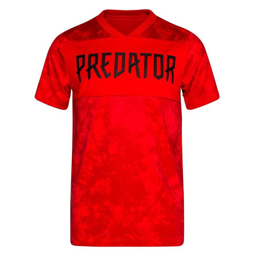 adidas Trænings T-Shirt Predator – Rød/Sort Børn