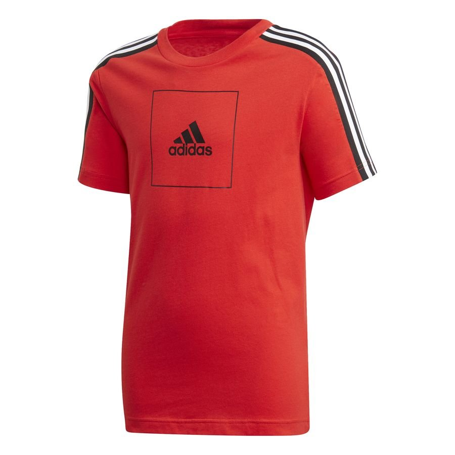 adidas Athletics Club T-Shirt - Rød/Sort Børn thumbnail