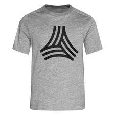 adidas T-Shirt Tango Logo - Grau/Schwarz Kinder