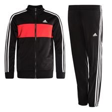 adidas Trainingsanzug Tiberio - Schwarz/Rot/Weiß Kinder