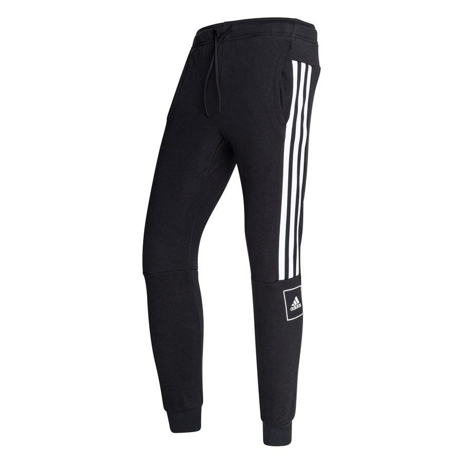 adidas Bukser 3-Stripes Slim - Sort/Hvid thumbnail