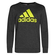 adidas Sweatshirt Crew Must Haves - Grau/Semi Solar Yellow Kinder