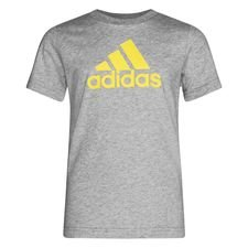 adidas T-Shirt Must Haves - Grau/Gelb Kinder