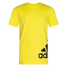 adidas T-Shirt Must Haves - Shock Yellow/Schwarz Kinder