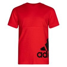 adidas T-Shirt Must Haves - Rot/Schwarz Kinder