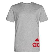 adidas T-Shirt Must Haves - Grau/Rot Kinder