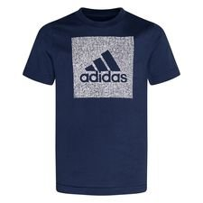 adidas T-Shirt Must Haves - Blau/Grau Kinder