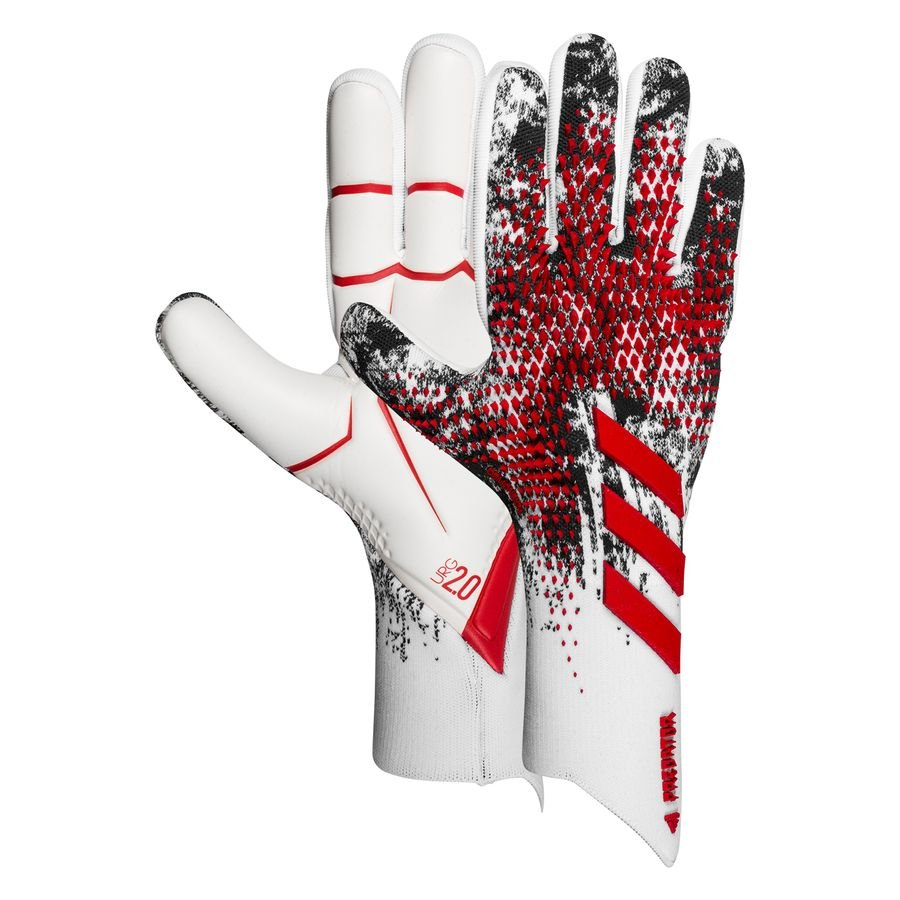adidas Goalkeeper Gloves Predator 20 Pro Manuel Neuer - White/Black/Action  Red