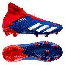 adidas Predator 20.3 Laceless FG/AG Tormentor - Blauw/Wit/Rood