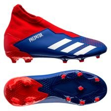 adidas Predator 20.3 Laceless FG/AG Tormentor - Blauw/Wit/Rood Kinderen