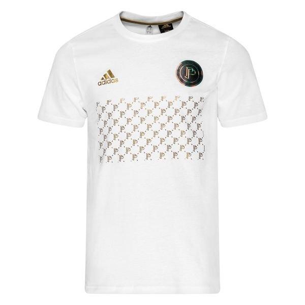 adidas T-Shirt Graphic Paul Pogba Season 7 - White/Metallic Gold ...