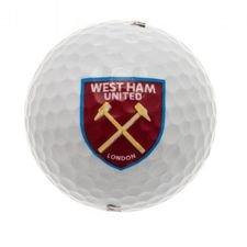 West Ham United Golfboll - Vit/Röd