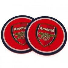 Arsenal Glasunderlägg 2-Pack - Röd/Blå