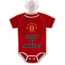 Manchester United Fönsterskylt Baby On Board - Röd