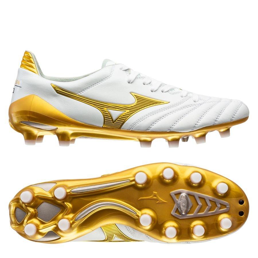 Mizuno Morelia Neo II Made in Japan FG Victory Gold – Hvid/Guld