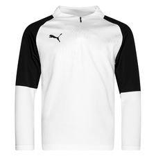 PUMA Trainingsshirt Cup 1/4 Reißverschluss Core - Weiß/Schwarz Kinder