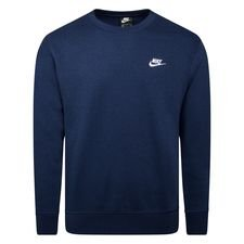 Nike Sweatshirt NSW Club Crew - Navy/Weiß